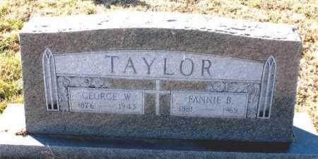 TAYLOR, GEORGE  W. - Carroll County, Arkansas   GEORGE  W. TAYLOR - Arkansas Gravestone Photos