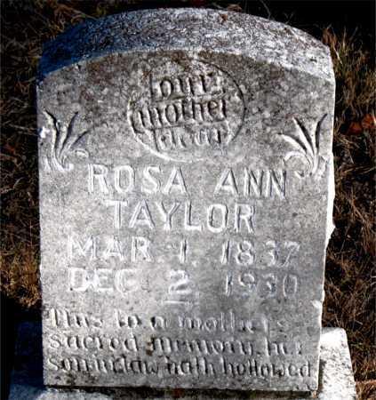 TAYLOR, ROSA ANN - Carroll County, Arkansas | ROSA ANN TAYLOR - Arkansas Gravestone Photos