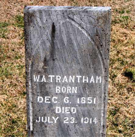 TRANTHAM, W A - Carroll County, Arkansas | W A TRANTHAM - Arkansas Gravestone Photos