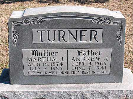 TURNER, MARTHA J - Carroll County, Arkansas   MARTHA J TURNER - Arkansas Gravestone Photos