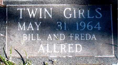 ALLRED, TWIN GIRLS - Carroll County, Arkansas | TWIN GIRLS ALLRED - Arkansas Gravestone Photos