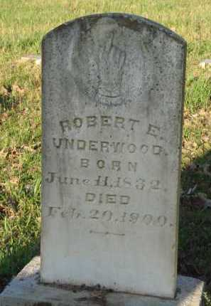 UNDERWOOD, ROBERT E. - Carroll County, Arkansas   ROBERT E. UNDERWOOD - Arkansas Gravestone Photos
