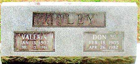 WARD UTLEY, VALERIA - Carroll County, Arkansas | VALERIA WARD UTLEY - Arkansas Gravestone Photos