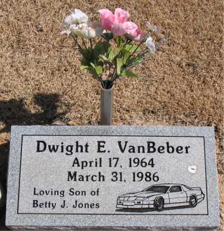VANBEBER, DWIGHT E. - Carroll County, Arkansas | DWIGHT E. VANBEBER - Arkansas Gravestone Photos
