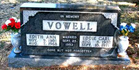VOWELL, EDITH ANN - Carroll County, Arkansas   EDITH ANN VOWELL - Arkansas Gravestone Photos