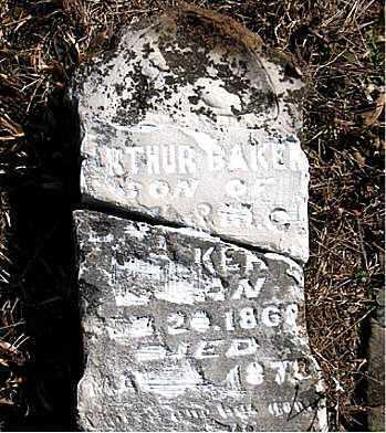 WALKER, ARTHUR  BAKER - Carroll County, Arkansas | ARTHUR  BAKER WALKER - Arkansas Gravestone Photos