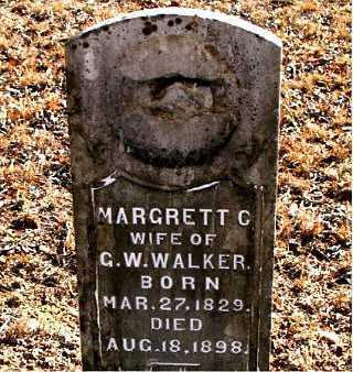 WALKER, MARGRETT  C. - Carroll County, Arkansas | MARGRETT  C. WALKER - Arkansas Gravestone Photos