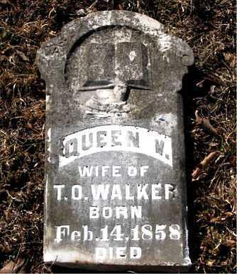 WALKER, QUEEN  V. - Carroll County, Arkansas   QUEEN  V. WALKER - Arkansas Gravestone Photos