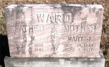 WARD, MARY J. - Carroll County, Arkansas | MARY J. WARD - Arkansas Gravestone Photos
