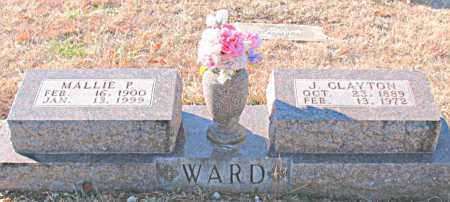 WARD, J. CLAYTON - Carroll County, Arkansas | J. CLAYTON WARD - Arkansas Gravestone Photos