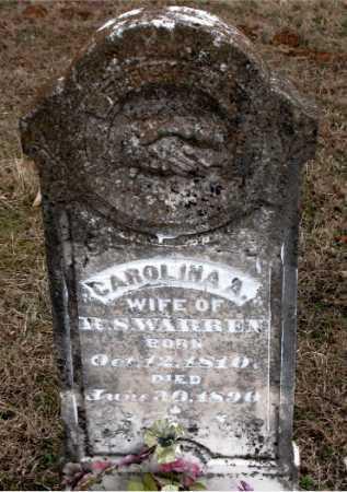 WARREN, CAROLINA A. - Carroll County, Arkansas | CAROLINA A. WARREN - Arkansas Gravestone Photos