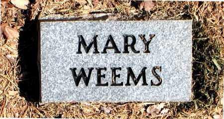 WEEMS, MARY - Carroll County, Arkansas | MARY WEEMS - Arkansas Gravestone Photos