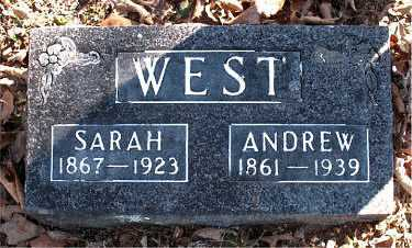 WEST, ANDREW - Carroll County, Arkansas | ANDREW WEST - Arkansas Gravestone Photos