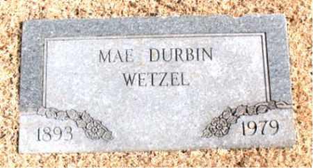 WETZEL, MAE  DURBIN - Carroll County, Arkansas | MAE  DURBIN WETZEL - Arkansas Gravestone Photos