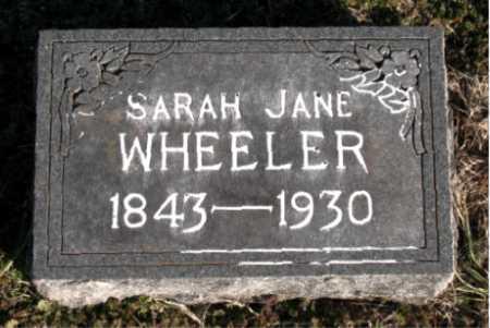 WHEELER, SARAH JANE - Carroll County, Arkansas | SARAH JANE WHEELER - Arkansas Gravestone Photos