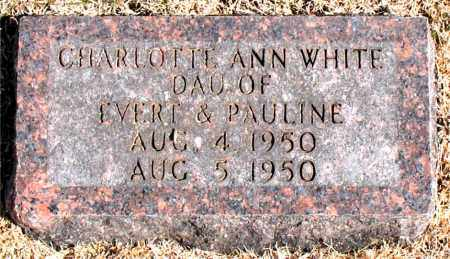 WHITE, CHARLOTTE  ANN - Carroll County, Arkansas | CHARLOTTE  ANN WHITE - Arkansas Gravestone Photos