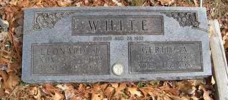 WHITE, GERTIE A - Carroll County, Arkansas | GERTIE A WHITE - Arkansas Gravestone Photos