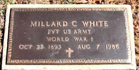 WHITE  (VETERAN WWI), MILLARD C - Carroll County, Arkansas   MILLARD C WHITE  (VETERAN WWI) - Arkansas Gravestone Photos