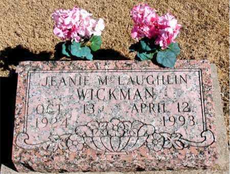 WICKMAN, JEANIE M. - Carroll County, Arkansas | JEANIE M. WICKMAN - Arkansas Gravestone Photos