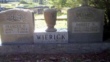 WIERICK, ROBERT W - Carroll County, Arkansas | ROBERT W WIERICK - Arkansas Gravestone Photos