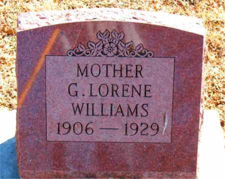 WILLIAMS, G. LORENE - Carroll County, Arkansas | G. LORENE WILLIAMS - Arkansas Gravestone Photos