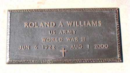 WILLIAMS  (VETERAN WWII), ROLAND - Carroll County, Arkansas   ROLAND WILLIAMS  (VETERAN WWII) - Arkansas Gravestone Photos