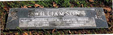 WILLIAMSON, SAMUEL PAYNE - Carroll County, Arkansas | SAMUEL PAYNE WILLIAMSON - Arkansas Gravestone Photos