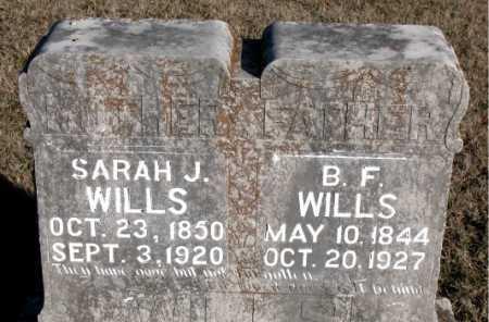 WILLS, B. F. - Carroll County, Arkansas | B. F. WILLS - Arkansas Gravestone Photos