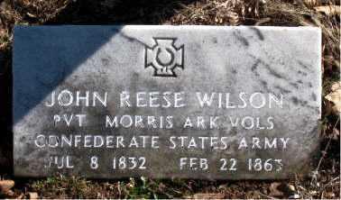WILSON (VETERAN CSA), JOHN REESE - Carroll County, Arkansas   JOHN REESE WILSON (VETERAN CSA) - Arkansas Gravestone Photos