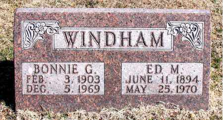 WINDHAM, BONNIE G - Carroll County, Arkansas   BONNIE G WINDHAM - Arkansas Gravestone Photos