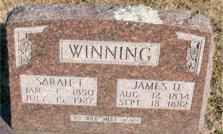WINNING, JAMES  D. - Carroll County, Arkansas | JAMES  D. WINNING - Arkansas Gravestone Photos