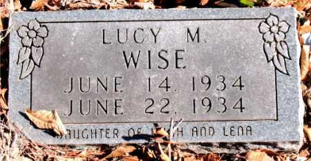 WISE, LUCY M. - Carroll County, Arkansas | LUCY M. WISE - Arkansas Gravestone Photos