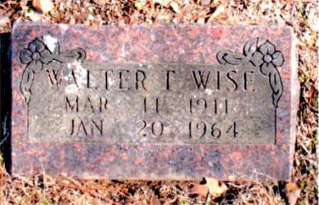 WISE, WALTER T. - Carroll County, Arkansas   WALTER T. WISE - Arkansas Gravestone Photos