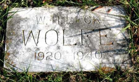 WOLFE, W. H. LECK - Carroll County, Arkansas   W. H. LECK WOLFE - Arkansas Gravestone Photos