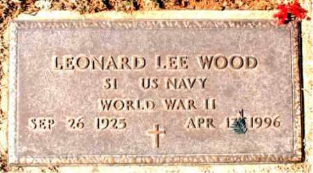 WOOD (VETERAN WWII), LEONARD LEE - Carroll County, Arkansas   LEONARD LEE WOOD (VETERAN WWII) - Arkansas Gravestone Photos