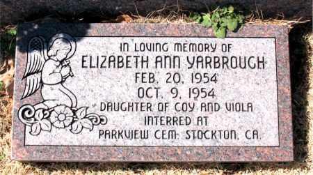 YARBROUGH, ELIZABETH ANN - Carroll County, Arkansas | ELIZABETH ANN YARBROUGH - Arkansas Gravestone Photos