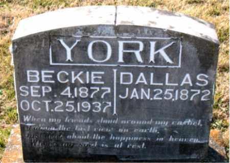 YORK, BECKIE - Carroll County, Arkansas | BECKIE YORK - Arkansas Gravestone Photos