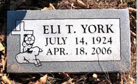 YORK, ELI  T. - Carroll County, Arkansas   ELI  T. YORK - Arkansas Gravestone Photos