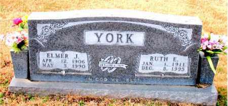 YORK, ELMER J. - Carroll County, Arkansas | ELMER J. YORK - Arkansas Gravestone Photos