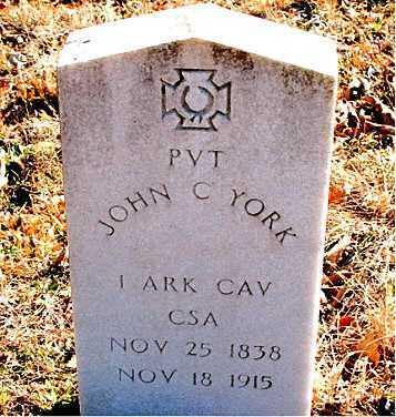 YORK (VETERAN CSA), JOHN  C. - Carroll County, Arkansas | JOHN  C. YORK (VETERAN CSA) - Arkansas Gravestone Photos