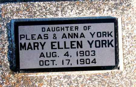 YORK, MARY ELLEN - Carroll County, Arkansas | MARY ELLEN YORK - Arkansas Gravestone Photos