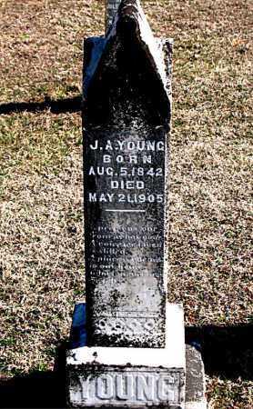 YOUNG, J A - Carroll County, Arkansas | J A YOUNG - Arkansas Gravestone Photos