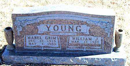GRIM YOUNG, MABEL - Carroll County, Arkansas | MABEL GRIM YOUNG - Arkansas Gravestone Photos