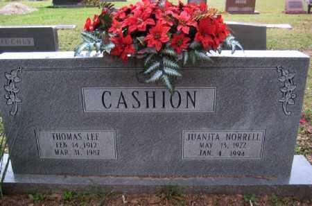 NORRELL CASHION, JUANITA - Chicot County, Arkansas | JUANITA NORRELL CASHION - Arkansas Gravestone Photos