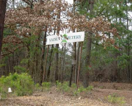 *VADEN CEMETERY, SIGN - Clark County, Arkansas | SIGN *VADEN CEMETERY - Arkansas Gravestone Photos