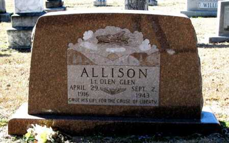 ALLISON (VETERAN WWII), OLEN GLEN - Clark County, Arkansas | OLEN GLEN ALLISON (VETERAN WWII) - Arkansas Gravestone Photos