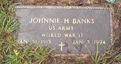 BANKS (VETERAN WWII), JOHNNIE H - Clark County, Arkansas   JOHNNIE H BANKS (VETERAN WWII) - Arkansas Gravestone Photos
