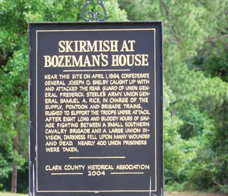 *BOZEMAN CEMETERY, BATTLE SIGN - Clark County, Arkansas | BATTLE SIGN *BOZEMAN CEMETERY - Arkansas Gravestone Photos