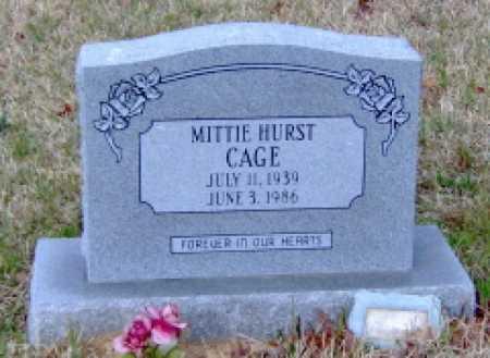 HURST CAGE, MITTIE - Clark County, Arkansas | MITTIE HURST CAGE - Arkansas Gravestone Photos