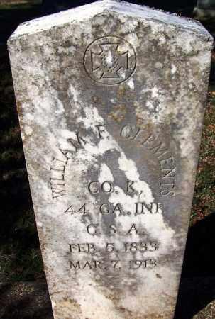 CLEMENTS (VETERAN CSA), WILLIAM F - Clark County, Arkansas | WILLIAM F CLEMENTS (VETERAN CSA) - Arkansas Gravestone Photos